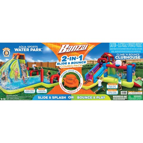 2-in1 Ultimate Combo Pack Bouncer Water Parks - Orange