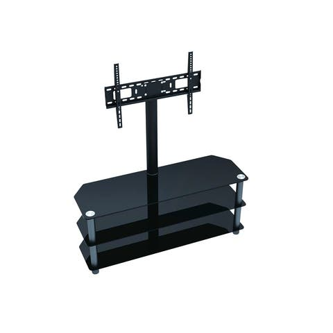 Monoprice High Quality TV Stand with Fixed TV Wall Mount Bracket For TVs Up to 55in, Max Weight 88 lbs , VESA Patterns U