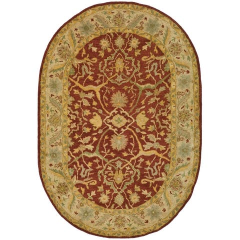 Safavieh Handmade Antiquity Izora Traditional Oriental Wool Rug