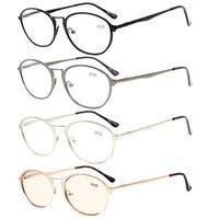 Eyekepper 4-Pack Spring Hinges Retro Reading Computer Glasses+2.75