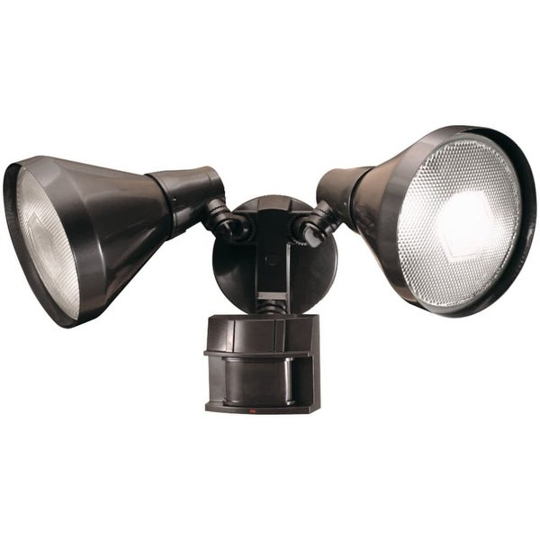 Heath Zenith SL-5412 2-Light 180 Degree Motion Activated Twin Flood Security Light - Bronze - n/a
