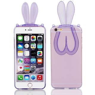 Soft Silicone Phone Skin Cover Purple for iPhone 6 Plus 5.5