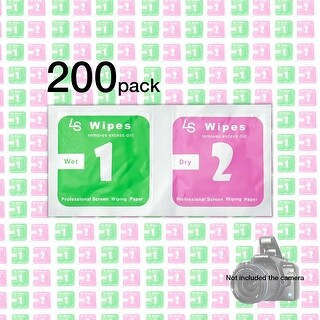 Lusana Studio Combo Wet and Dry Lens and Glass Wipes, 200 Count, OS0064