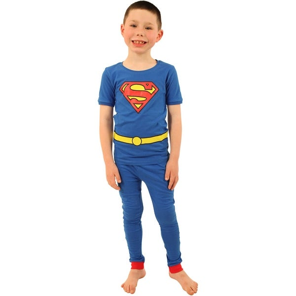 DC Comics Boys' Cast of Characters Pajama Set. Opens flyout.