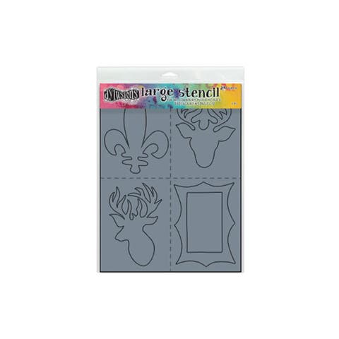 Dys47117 ranger dylusions stencil large country