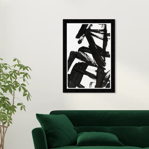 Wynwood Studio 'Mindful Always' Abstract Black Wall Art Framed Print