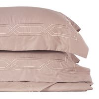 Metropolitan Stitch Duvet Cover Set Bedding Set 3 Pc Set Taupe Queen Size