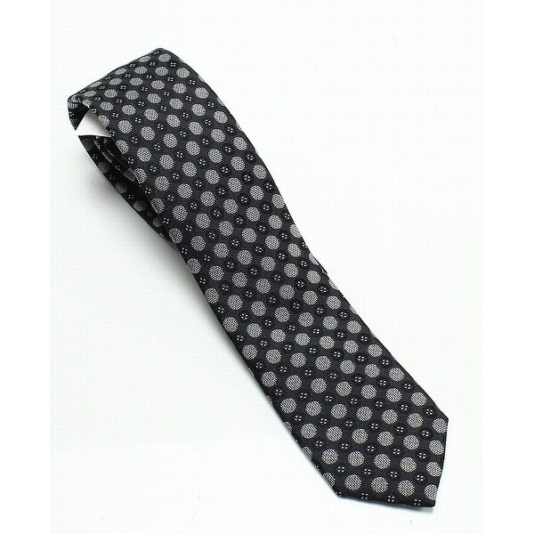 7609d7fdb3f8 Shop PURE Medallion Polka Dot Skinny Men's Silk Woven Neck Tie - Free  Shipping On Orders Over $45 - Overstock - 27012301