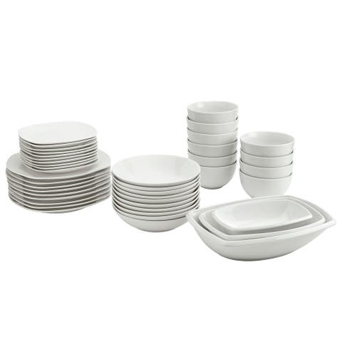 Tabletops Gallery 43PK White Soft Square Catering Set