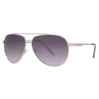 Kenneth Cole Reaction KC1247 6111B Men's Silver Grey Gradient Aviator Sunglasses - 61mm-12mm-140mm