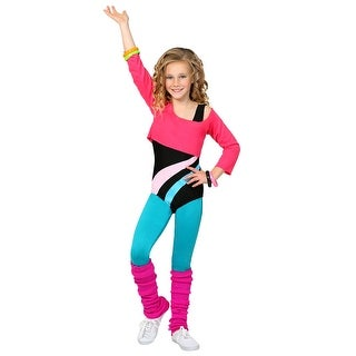 Child 80's Workout Girl Costume