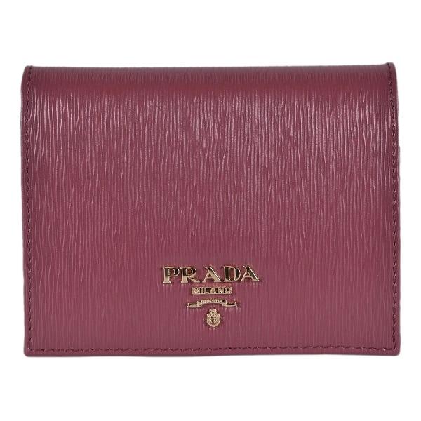 30bfaa41acf Prada Women's 1MV204 2EZZ Vitello Pink Leather Small Bifold Wallet W/