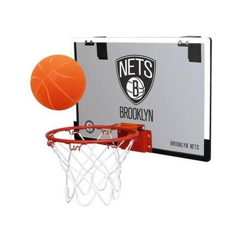 Rawlings NBA Game On Basketball Hoop and Ball Set (Brooklyn Nets)