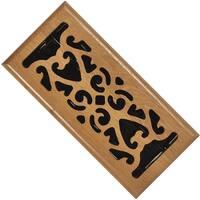 "Imperial RG1834 Scroll Design Floor Register, Light Oak, 4"" x 10"""