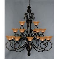 Wrought Iron Large Chandelier Lighting - Perfect for Foyer and Entry Way
