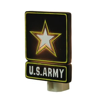 United States Army Star Logo Plug In Night Light - Black