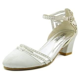 Kenneth Cole Reaction Sarah Glam Youth Open Toe Canvas Silver Sandals