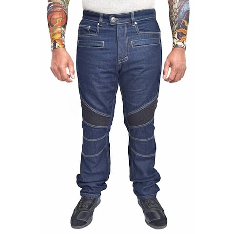 WICKED STOCK Motorcycle Riding Jeans Regular Fit with Removable Armor