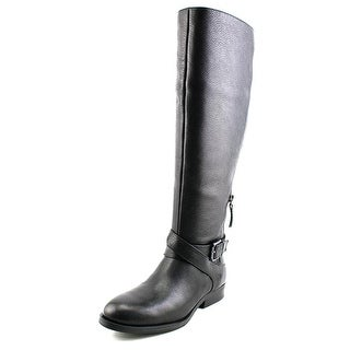 Nine West Virtuous Wide calf Women Round Toe Leather Knee High Boot