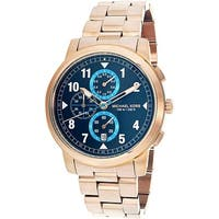 Michael Kors Men's Paxton  Rose-Gold Stainless-Steel Quartz Dress Watch