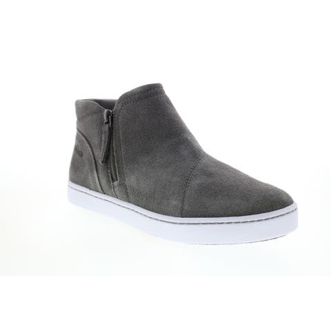 Clarks Pawley Adwin Grey Suede Womens Lifestyle Sneakers