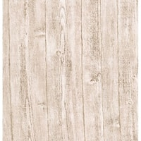 Brewster 412-56909 Ardennes Light Grey Wood Panel Wallpaper - N/A