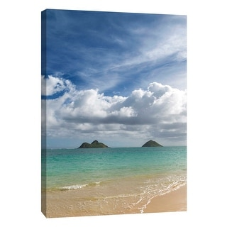 "PTM Images 9-108827  PTM Canvas Collection 10"" x 8"" - ""Lanikai Vertical"" Giclee Beaches and Waves Art Print on Canvas"