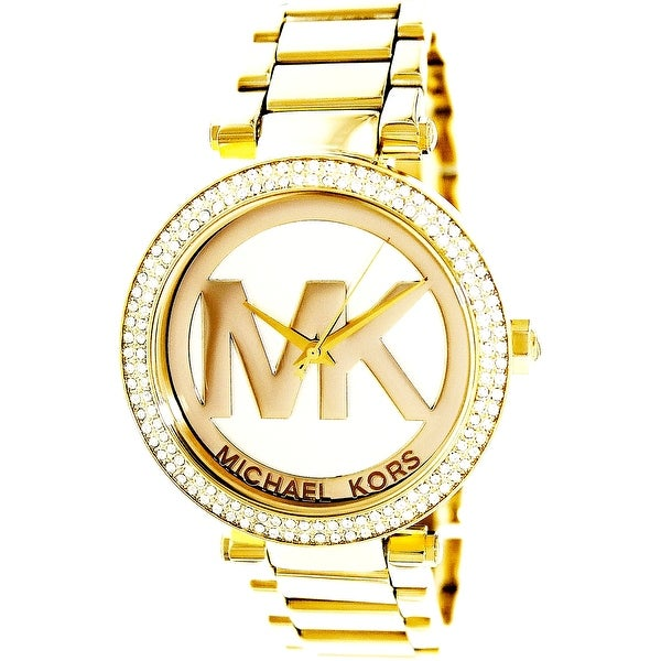 707bab2ea445 Shop Michael Kors Women s Parker Gold Stainless-Steel Fashion Watch ...