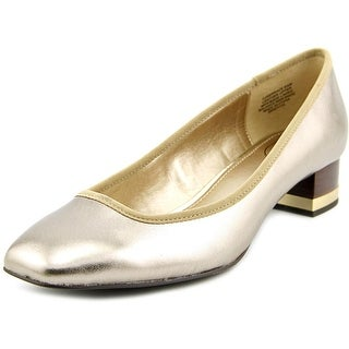 Circa Joan & David Xerrace Women Square Toe Leather Gold Heels