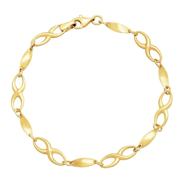 Eternity Gold Infinity Link Bracelet in 14K Gold - Yellow
