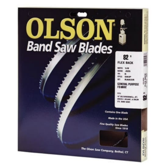 "Olson Saw 08582 Hard Edge Flex Back Band Saw Blade, 82"" x 1/8"""