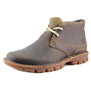 Caterpillar Mitch Men Plain Toe Leather Brown Chukka Boot