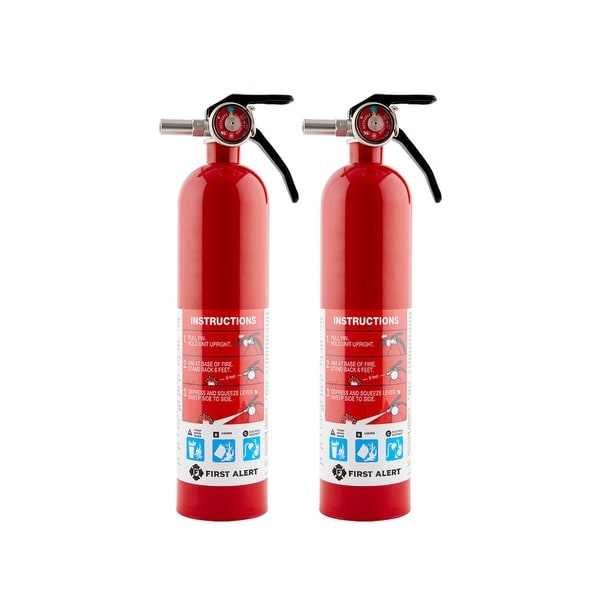 First Alert HOME1 ABC Rechargeable Fire Extinguisher-HOME (2 PACK)