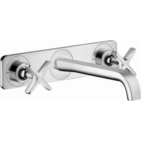 Axor 36115 Citterio E 1.2 GPM Wall Mount Widespread Bathroom Faucet Less Valve and Drain Assembly - Engineered in Germany,