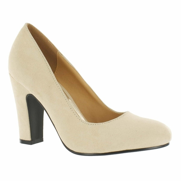 Red Circle Footwear 'Sybil' Chunky Heel Pump in Nude