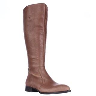 Nine West Nicolah Wide Calf Riding Boots - Cognac