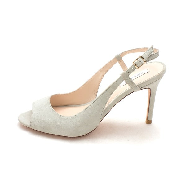 Cole Haan Womens 14A4167 Suede Open Toe SlingBack Classic Pumps