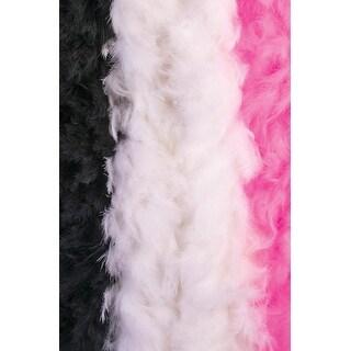 Forum Novelties Deluxe Feather Boa (White) - White