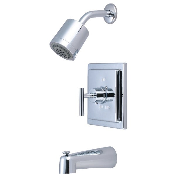 Kingston Brass KB465.CML Manhattan Tub and Shower Trim Package with 1.8 GPM Single Function Shower Head - Polished Chrome
