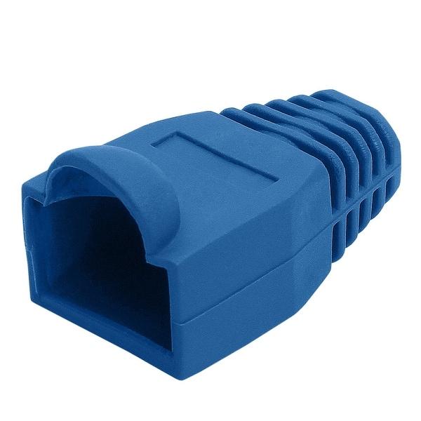 RJ45 Color Coded Strain Relief Boots 50pcs - Blue