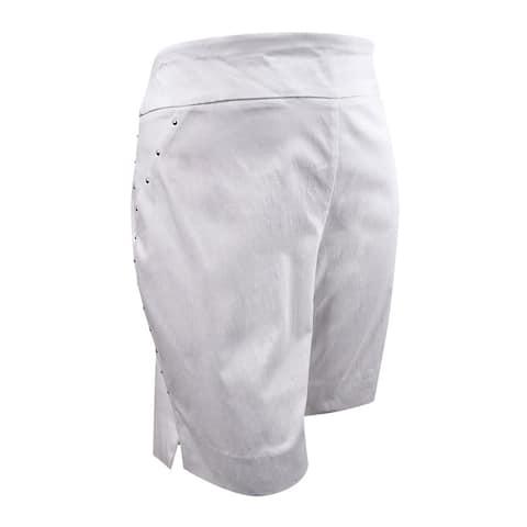 INC International Concepts Women's Stud-Trim Bermuda Shorts (18, Bright White) - Bright White - 18