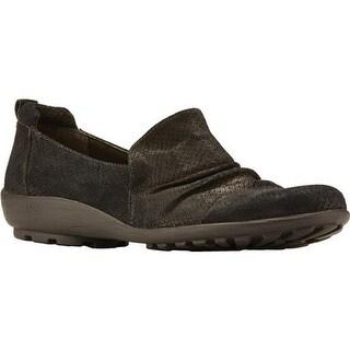 Walking Cradles Women's Hanson Loafer Black Matt Snake Leather