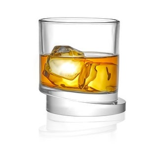 Link to JoyJolt Round Aqua Vitae 11.6 oz Crystal Whiskey Glass, Set of two Off Base Old Fashioned Glasses Similar Items in Glasses & Barware