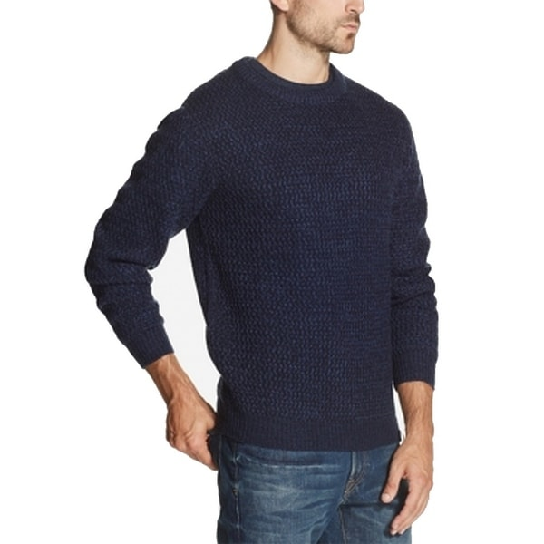 Weatherproof Mens Sweaters Navy Blue Size Small S Crewneck Knit Pullover