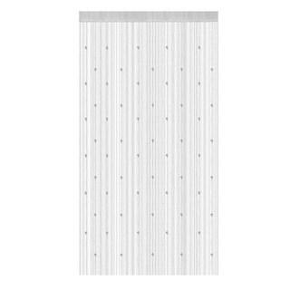 Bedroom Decor Polyester Door Window String Bead Curtain Tassel White 100 x 200cm - MultiColor