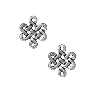 TierraCast Fine Silver Plated Pewter Rose Trinity 3-Strand Connector Bead (2)