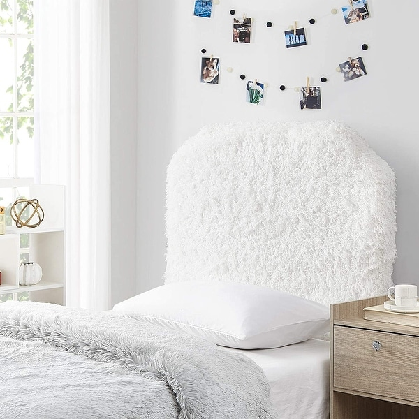 Mo' Fluffy Feathers College Headboard - Plush Texture. Opens flyout.