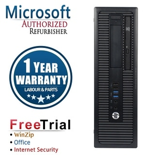 Refurbished HP ProDesk 600G1 Small Form Factor Intel Core I5 4570 3.2G 8G DDR3 1TB DVD WIN 10 Pro 64 1 Year Warranty - Black
