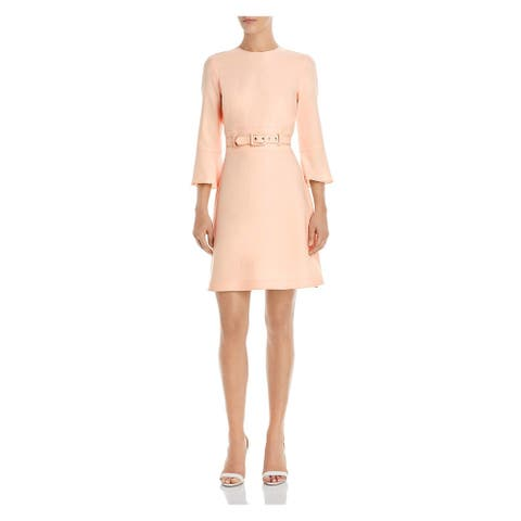 Shoshanna Womens Pink Long Sleeve Short Sheath Evening Dress Size 10