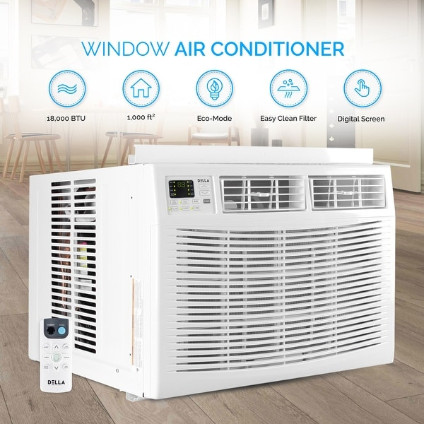 18000 btu window air conditioner tcl della air conditioner 18000 btu ac window mounted remote control white energy star washable filter cool shop